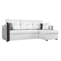 Угловой диван Валенсия (эко кожа белый)