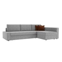 Угловой диван Версаль (рогожка серый/коричневый)