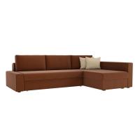 Угловой диван Версаль (рогожка коричневый)