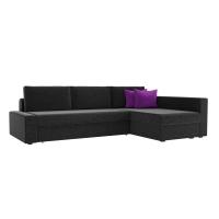 Угловой диван Версаль (вельвет черный)