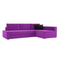 Угловой диван Версаль (вельвет фиолетовый)