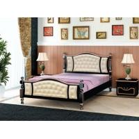Кровать из массива Жасмин 160 см (орех темный)