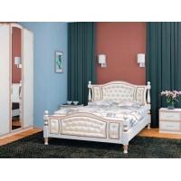 Кровать из массива Жасмин 160 см (дуб молочный)
