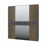 Шкаф 4-х дверный Куба ШР-4 (с зеркалами)