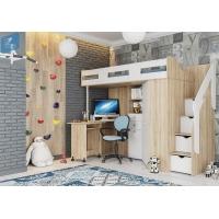 Кровать чердак Мийа_А (сонома/белый)