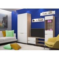Гостиная Анталия со шкафом (сонома/белый Софт)