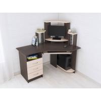 Стол компьютерный угловой Грета-7 (Дуб молочный/Венге)