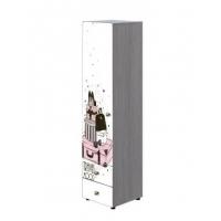 Шкаф 1-створчатый комби ШК-004 Мийа-3А (белый фасад ф/п Ретро)