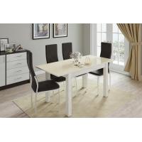 Стол обеденный Бруно 1100 (дуб крафт/ваниль)