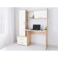 Стол компьютерный Квартет-9 (сонома/белый)