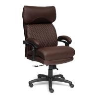 Кресло CHIEF кож/зам/ткань, коричневый/коричневый стеганный