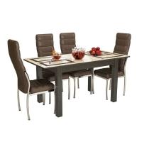 Стол обеденный Бруно 1200 Плитка (венге)