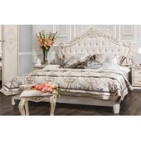 Кровать Патрисия 1,6 крем корпень глянец