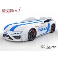 Кровать машина Romack Dreamer-M Полиция белая