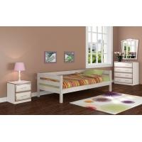 Кровать из массива Глория (дуб белый)