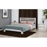 Кровать из массива Вероника, 140 см (дуб белый)