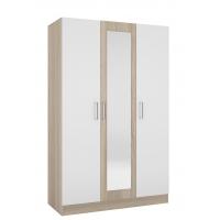 Шкаф 3-х дверный Леси (Уют-1) сонома/белый