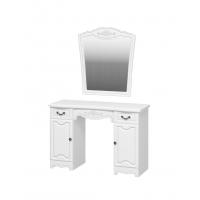 Стол туалетный с зеркалом Лотос Белый