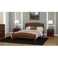 Кровать из массива Камелия-3 (дуб коньяк) 140 см