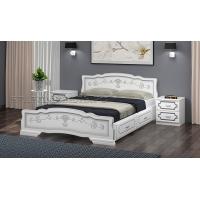 Кровать Карина-6 (белый жемчуг) 140 см с ящиками
