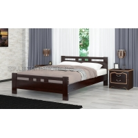 Кровать из массива Вероника-2, 120 см (орех темный)