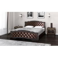 Кровать Карина-10 (орех темный/брилиант), 140 см