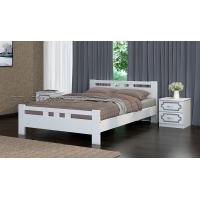 Кровать из массива Вероника-2, 120 см (белый античный)