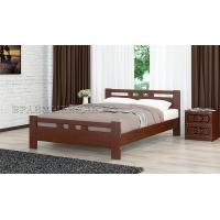 Кровать из массива Вероника-2, 140 см (орех)