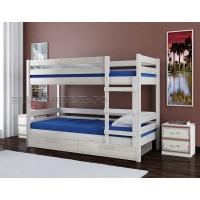 Двухъярусная кровать из массива Джуниор (белый античный)