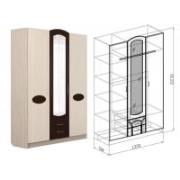 Шкаф 3-дверный Марта (дуб светлый)