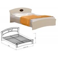Кровать 1600 Марта (дуб светлый)
