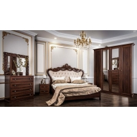 Комплект мебели для спальни с 4х ств. шкафом Афина (караваджо)