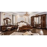 Комплект мебели для спальни Энрике (корень дуба глянец)