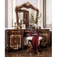Стол туалетный Энрике с пуфом (корень дуба глянец)