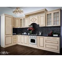 Кухонный гарнитур 4100 угловой Верона (крем глянец)