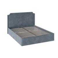 Двухспальная кровать с п/м ТД-308.01.09 Кантри (Замша синяя)