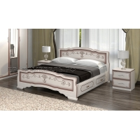 Кровать Карина-6 (дуб молочный) 120 см с ящиками