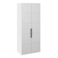 Шкаф с 2-мя зеркальными дверями «Наоми» СМ-208.07.05 (белый глянец)