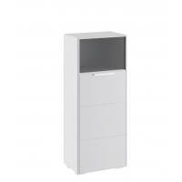 Шкаф комбинированный с 1-ой дверью ТД-208.07.28 Наоми (белый глянец)