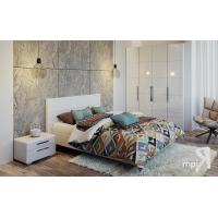 Спальный гарнитур №04 ГН-208.004 Наоми (белый глянец)