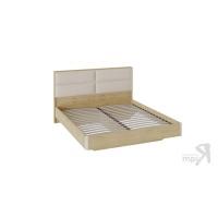 Двуспальная кровать Николь с мягким изголовьем СМ-295.01.003