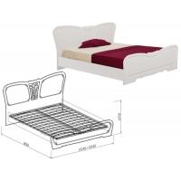 Кровать 1400 Тиффани (рельеф пастель)