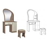 Стол макияжный с банкеткой и ящиком Светлана (Ясень шимо)