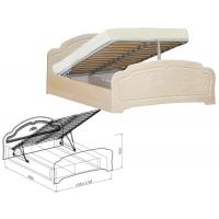 Кровать №1 1400 с подъемным механизмом Валенсия (жемчуг глянец)