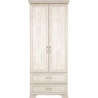 Шкаф для одежды с ящиками (2-х дв.) №17 Венеция (Бодега Светлый)