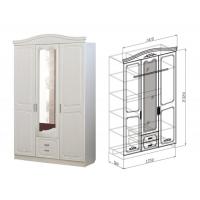 Шкаф 3-дверный Ева (рельеф пастель)