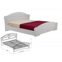 Кровать 1400 Ева (рельеф пастель)