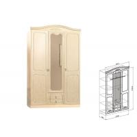 Шкаф 3-дверный Лира (жемчуг глянец)