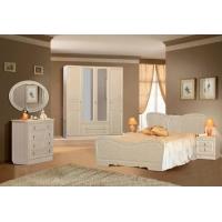 Комплект мебели для спальни №2 Верона (жемчуг глянец)