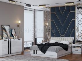 Спальный гарнитур Магнолия (белый глянец)